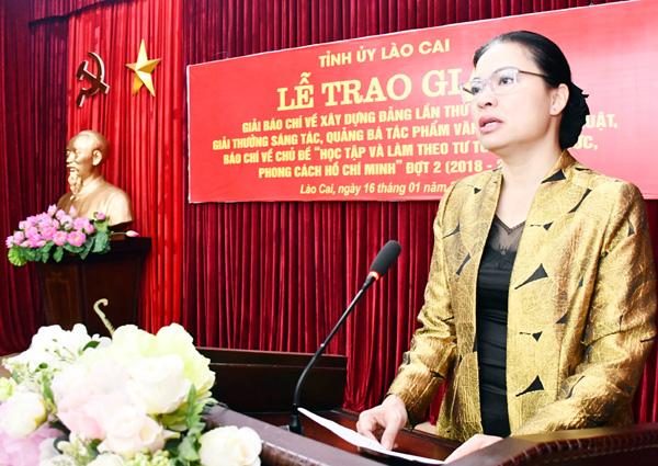 Lào Cai 56 tác phẩm đoạt giải báo chí về xây dựng Đảng