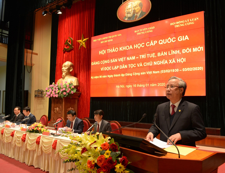 Đảng Cộng sản Việt Nam - Trí tuệ, bản lĩnh, đổi mới vì độc lập, tự do và chủ nghĩa xã hội