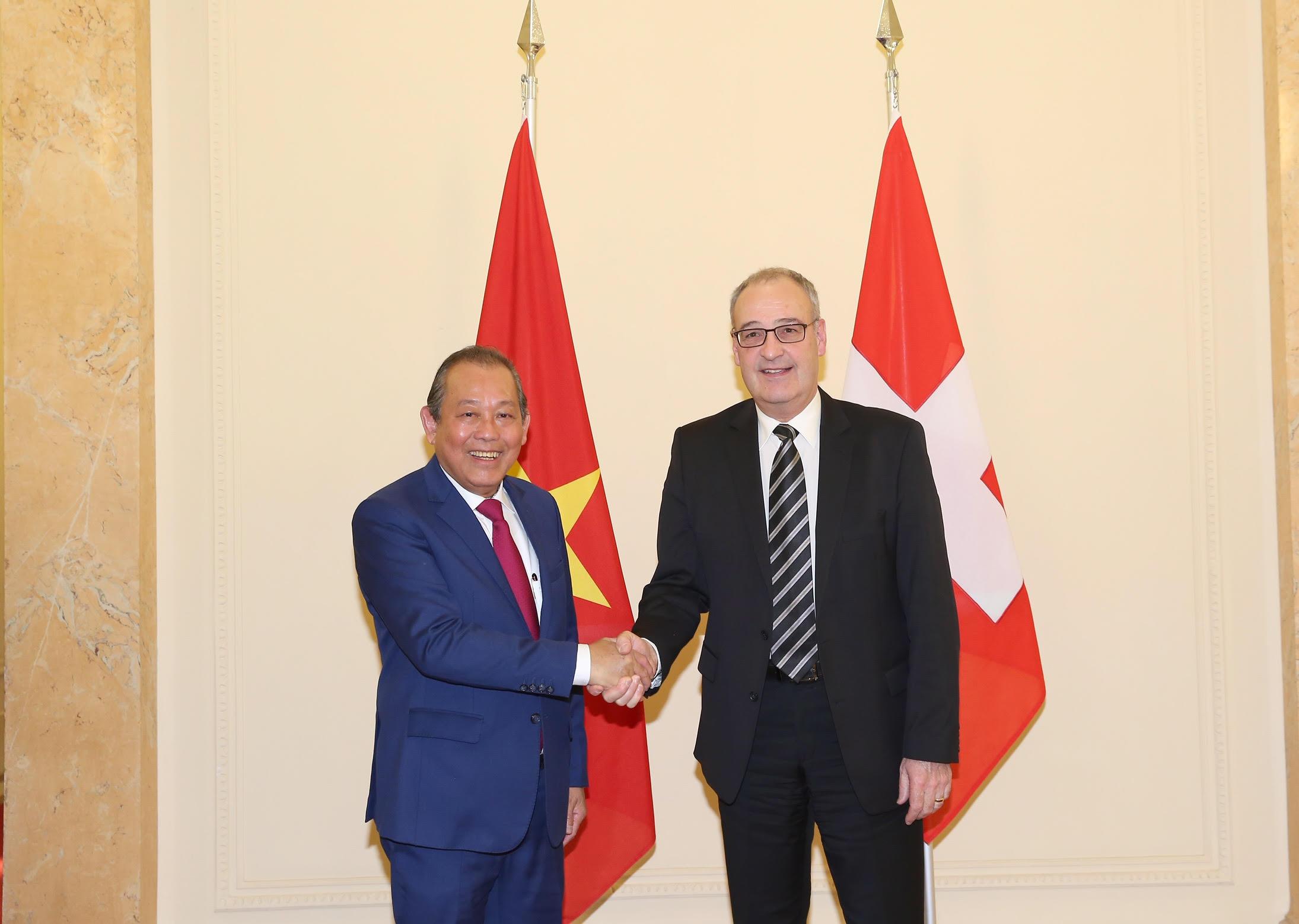 Việt Nam luôn coi trọng củng cố, phát triển quan hệ hữu nghị và hợp tác truyền thống với Thụy Sỹ
