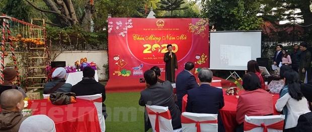 Sôi động ngày Tết cộng đồng người Việt Nam tại Lào và Ấn Độ