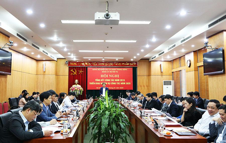 Đảng ủy Bộ Nội vụ Nhiều kết quả trong công tác xây dựng Đảng
