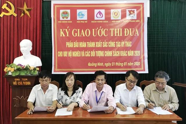 Quảng Ninh Quảng Bình  Ký giao ước thi đua giữa Ngân hàng chính sách xã hội với các tổ chức chính trị - xã hội