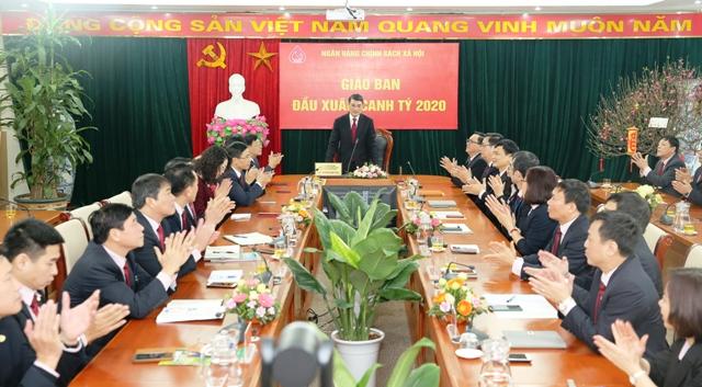 Thống đốc NHNN Lê Minh Hưng dự giao ban đầu xuân tại NHCSXH