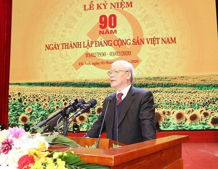 Bài phát biểu của Tổng Bí thư, Chủ tịch nước tại Lễ kỷ niệm 90 năm Ngày thành lập Đảng