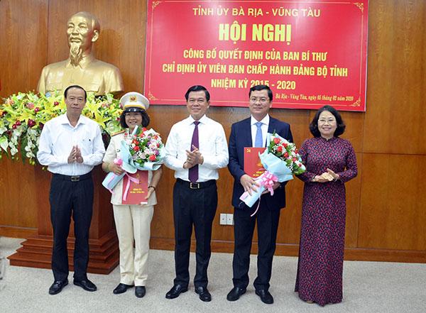Ban Bí thư chỉ định 2 Ủy viên Ban Chấp hành Đảng bộ tỉnh Bà Rịa- Vũng Tàu