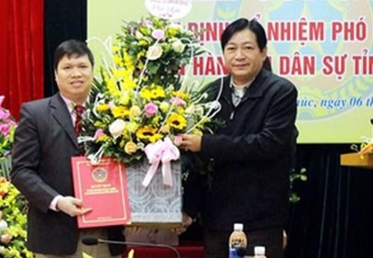 Trao Quyết định bổ nhiệm Phó Cục trưởng Cục THADS Vĩnh Phúc