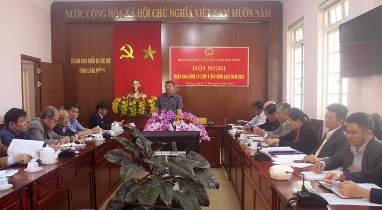 Đoàn ĐBQH tỉnh Lâm Đồng góp ý xây dựng luật năm 2020