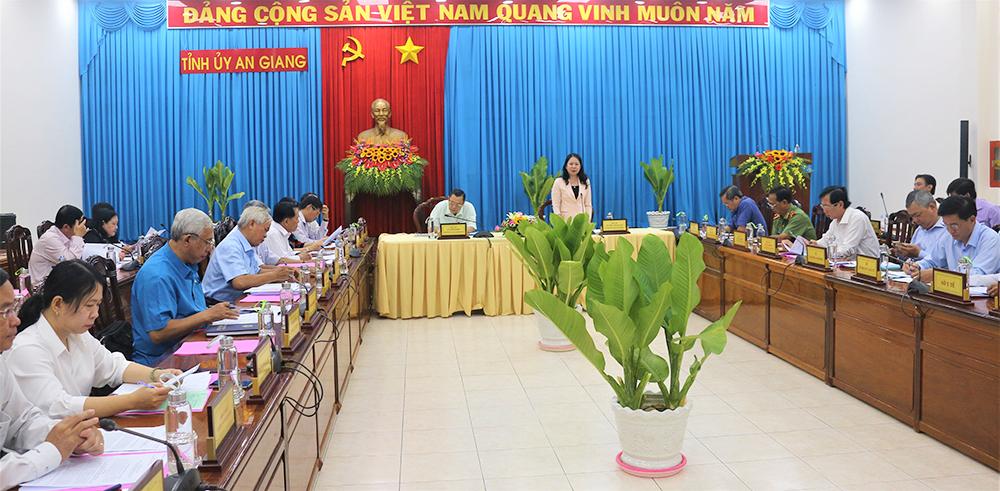 An Giang lấy ý kiến dự thảo Báo cáo chính trị trình đại hội Đảng bộ tỉnh