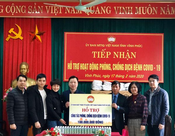 Mặt trận Tổ quốc TP Hà Nội hỗ trợ nhân dân vùng dịch Vĩnh Phúc