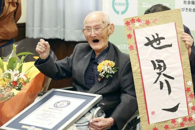 Cụ ông Nhật Bản được công nhận là người cao tuổi nhất thế giới