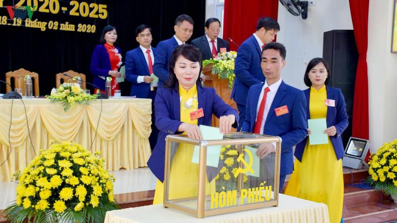 Hướng dẫn công tác nhân sự Ủy ban Kiểm tra tại đại hội đảng bộ các cấp