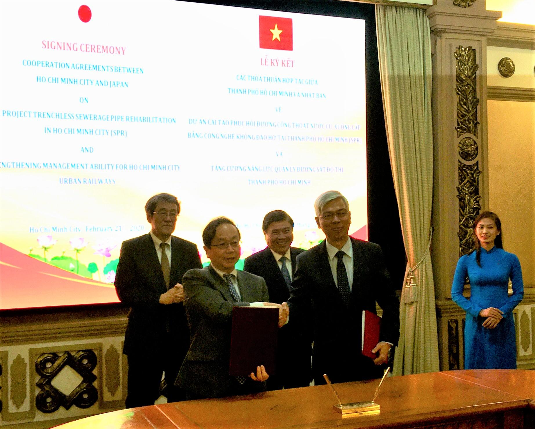 Viện trợ vốn cho dự án cải tạo thoát nước TP Hồ Chí Minh