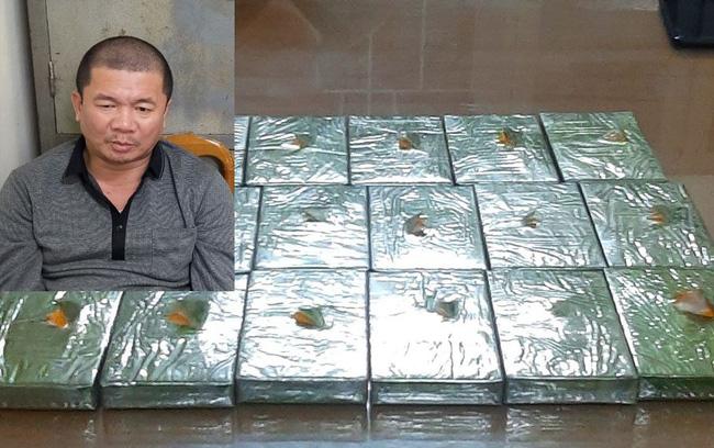 Thanh Hóa Bắt giữ đối tượng vận chuyển trái phép 17 bánh heroin