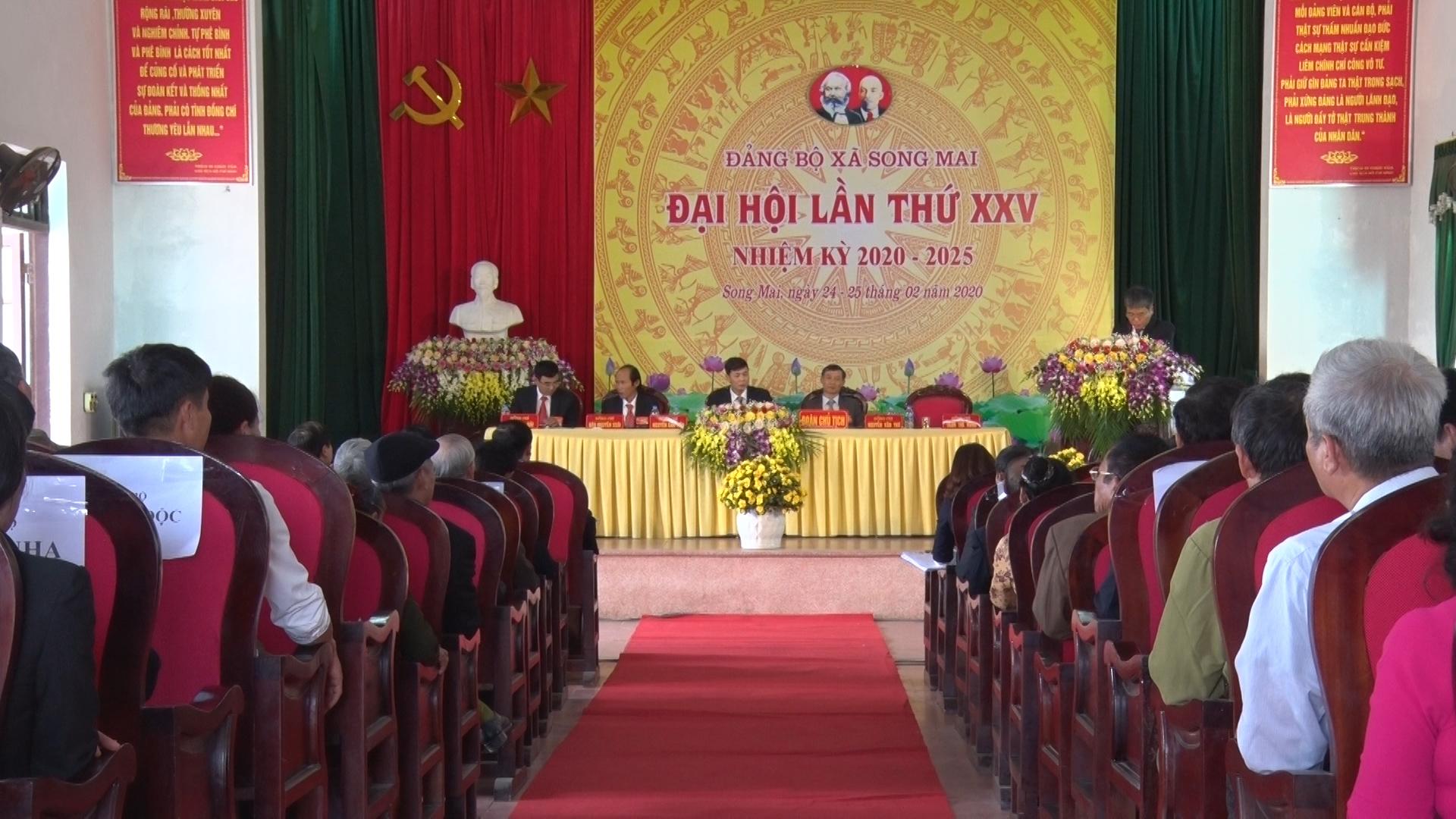 Đảng bộ xã Song Mai tổ chức đại hội lần thứ 25, nhiệm kỳ 2020 – 2025
