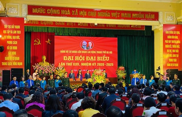 Đảng bộ cơ quan Liên đoàn Lao động TP Hà Nội tổ chức đại hội điểm