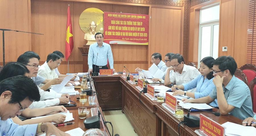 Duy Xuyên Quảng Nam chú trọng 3 nhiệm vụ trọng tâm