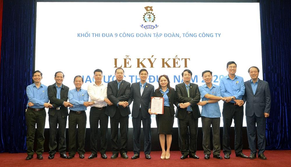 9 Công đoàn Tập đoàn, Tổng công ty thuộc Tổng Liên đoàn ký giao ước thi đua năm 2020