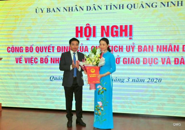 Đồng chí Nguyễn Thị Thúy giữ chức Giám đốc Sở Giáo dục và Đào tạo Quảng Ninh