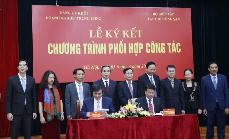 Phối hợp công tác Đảng ủy Khối Doanh nghiệp TƯ và Bộ Biên tập Tạp chí Cộng sản