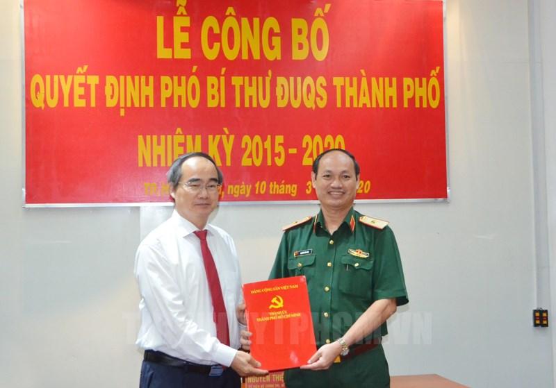 Đồng chí Nguyễn Văn Nam giữ chức Phó Bí thư Đảng ủy Quân sự TP Hồ Chí Minh