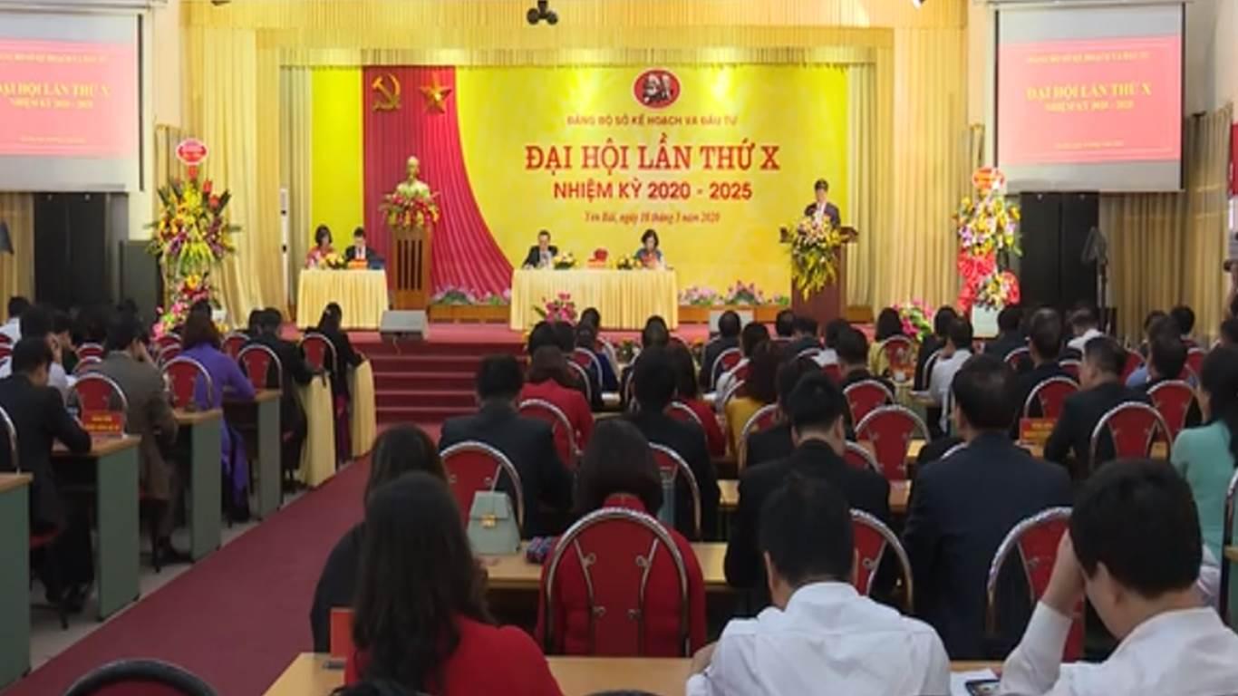 Đảng bộ Sở Kế hoạch và Đầu tư tỉnh Yên Bái tổ chức thành công Đại hội nhiệm kỳ 2020 - 2025