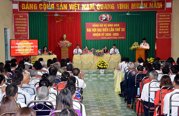 Đại hội điểm Đảng bộ xã Vĩnh Kiên Yên Bái thành công tốt đẹp