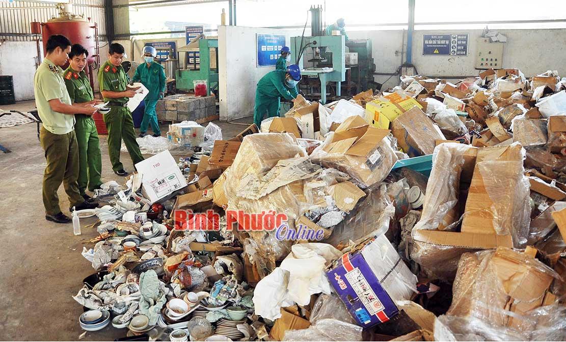Bình Phước Tiêu hủy 10 tấn hàng hóa vi phạm hành chính