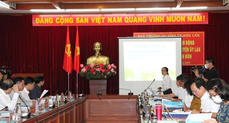 Đắk Lắk 9 ứng viên tham gia dự tuyển chức danh Bí thư Huyện ủy Lắk và Buôn Đôn