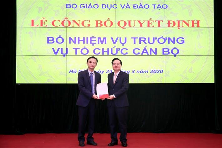Bộ Giáo dục và Đào tạo bổ nhiệm hai Vụ trưởng