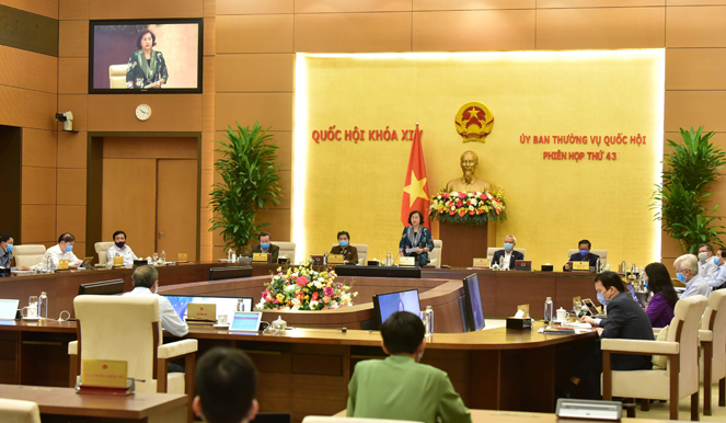 Bế mạc Phiên họp thứ 43 của Ủy ban Thường vụ Quốc hội