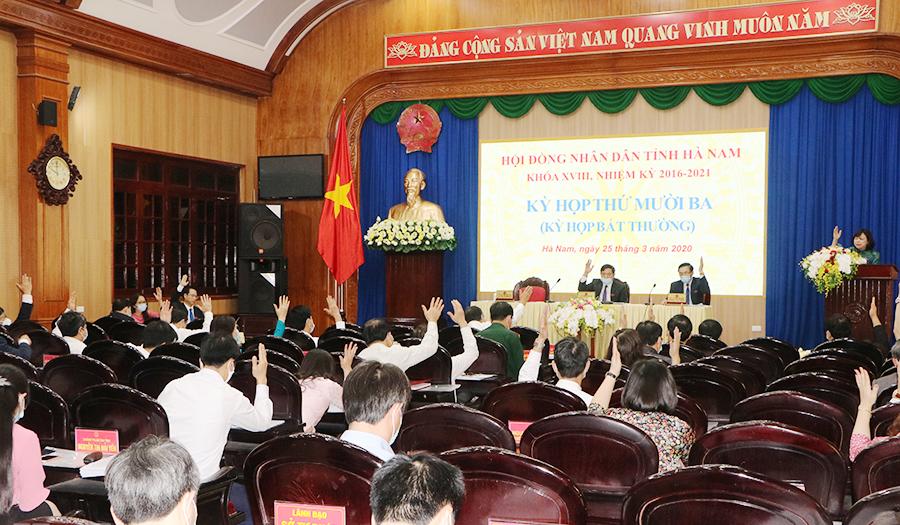 Kỳ họp thứ 13 HĐND tỉnh Hà Nam Quyết định nhiều vấn đề quan trọng