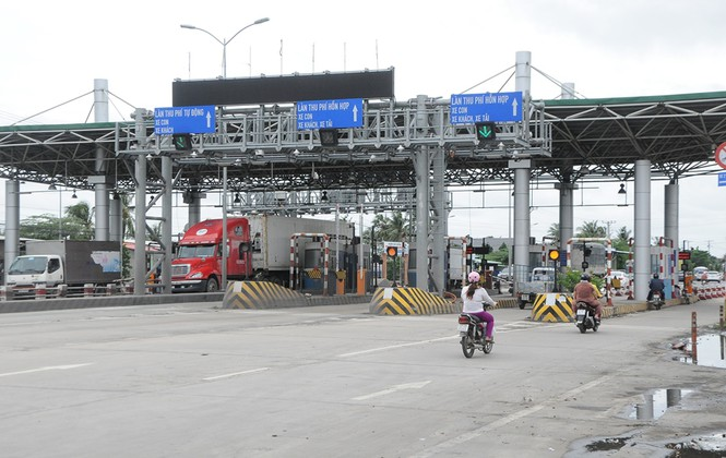 Phối hợp vận hành trạm thu phí Cai Lậy, tỉnh Tiền Giang