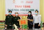 Trao tặng ủng hộ Trường Quân sự-Bộ Tư lệnh Thủ đô phòng, chống dịch COVID-19