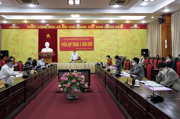 UBND tỉnh Hà Giang triển khai họp trực tuyến phiên tháng 3 2020 vì dịch bệnh COVID-19