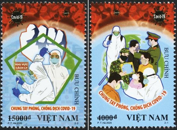 Phát hành bộ tem  Chung tay phòng, chống Dịch COVID-19