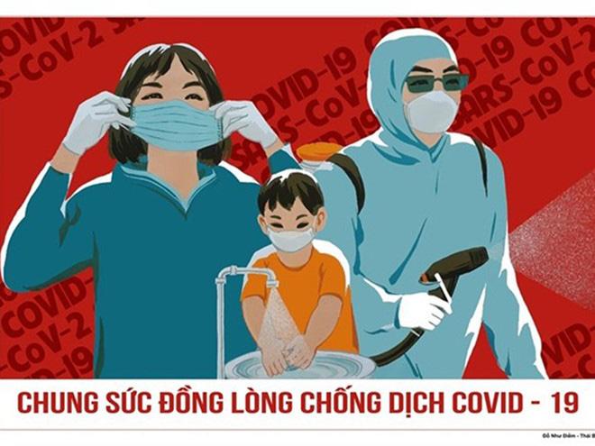14 mẫu tranh cổ động tuyên truyền phòng, chống dịch COVID-19 tại các địa phương