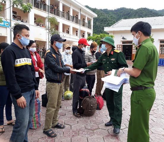 Nghệ An 155 công dân hoàn thành thời gian cách ly trở về địa phương