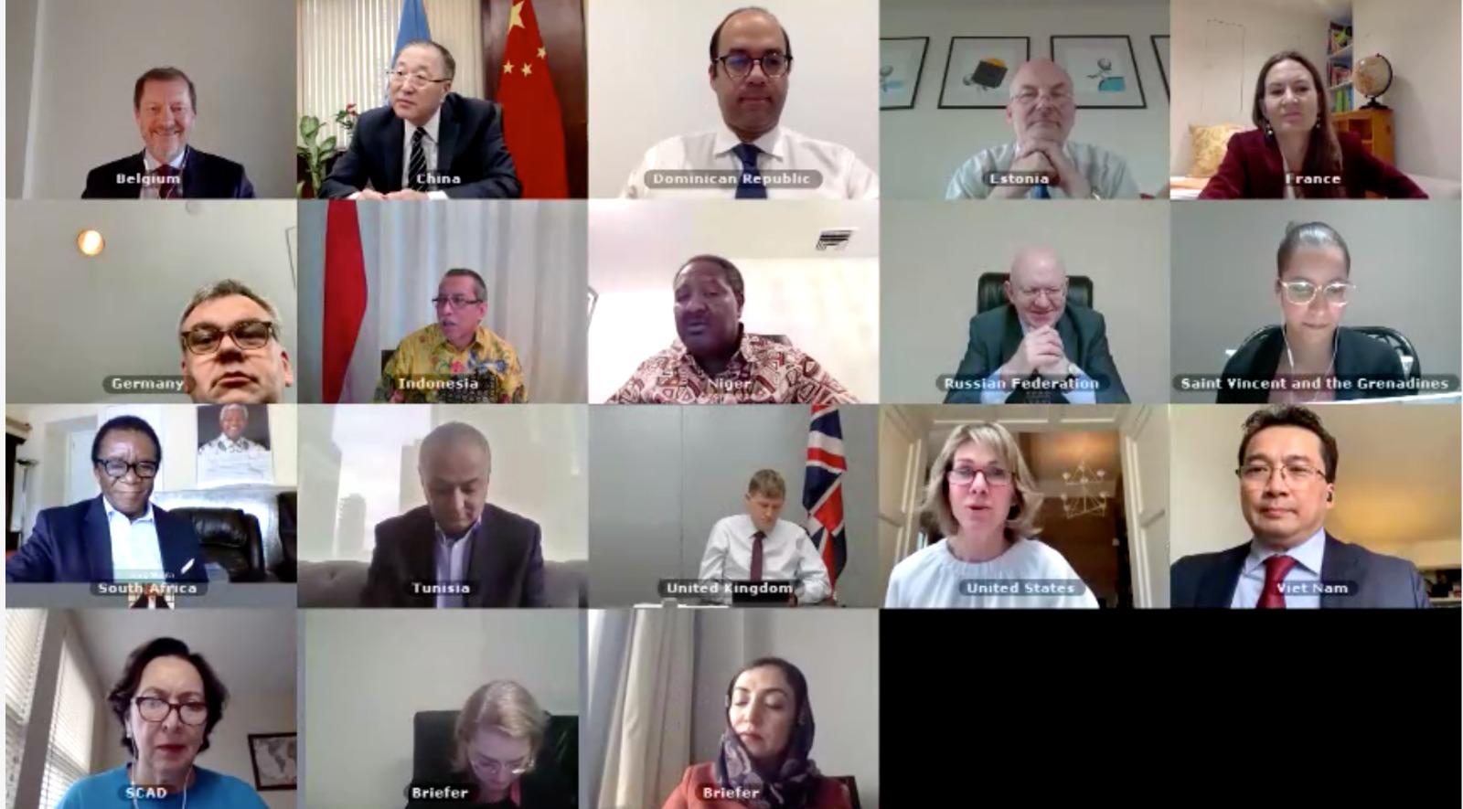 Hội đồng Bảo an thảo luận trực tuyến về tình hình Áp-ga-ni-xtan