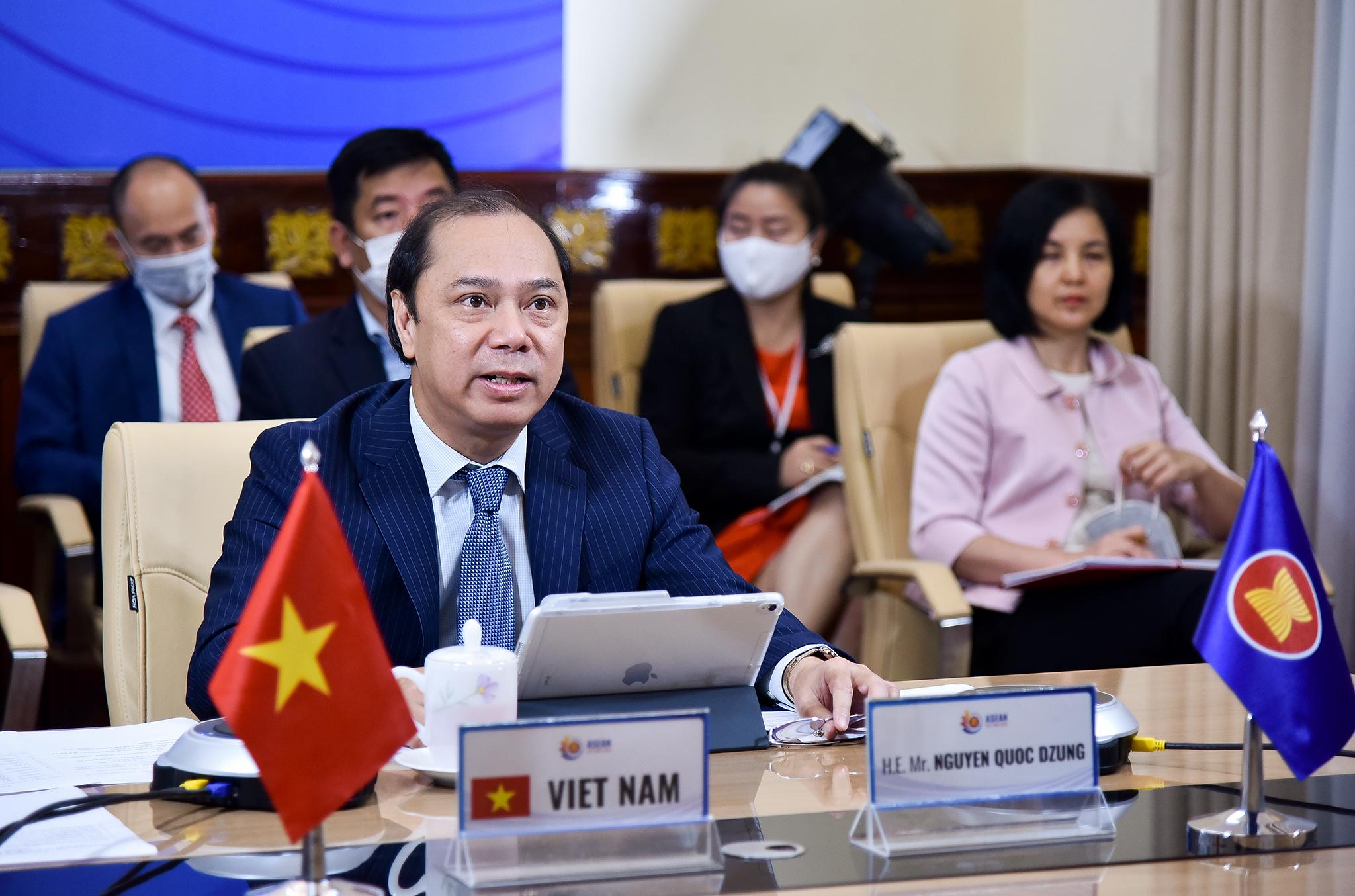ASEAN và Mỹ cam kết hợp tác chặt chẽ, ứng phó hữu hiệu với dịch COVID-19