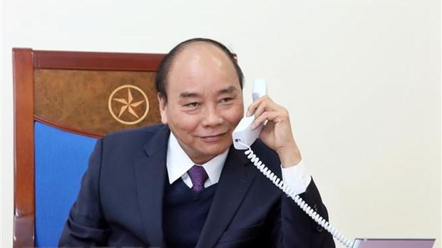 Thủ tướng Chính phủ Nguyễn Xuân Phúc điện đàm với Tổng thống Hàn Quốc Moon Jae-in