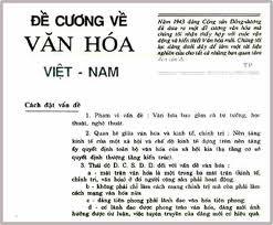 Đề cương văn hoá Việt Nam - văn kiện chính thức đầu tiên của Đảng về công tác văn hoá, văn nghệ