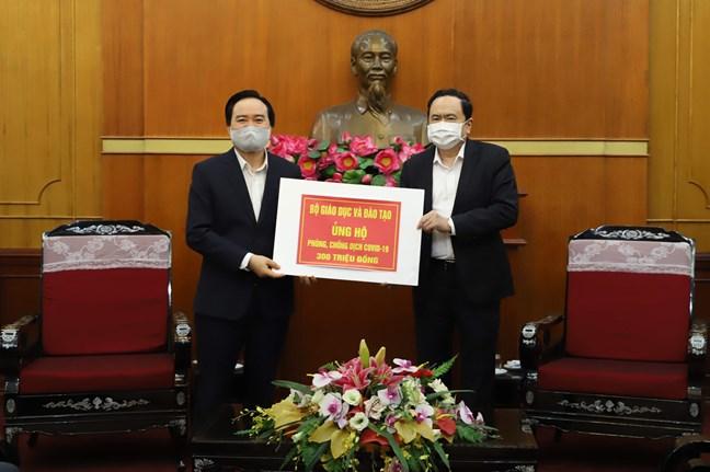 Thông tấn xã Việt Nam, Ban Tổ chức Trung ương ủng hộ công tác phòng, chống dịch COVID-19