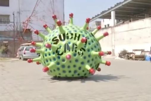 Ấn Độ trình làng xe hơi hình virus Corona