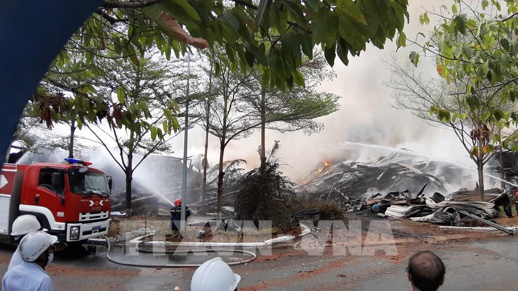 Bà Rịa - Vũng Tàu Dập tắt hoàn toàn đám cháy tại kho hàng Công ty cổ phần Thành Chí
