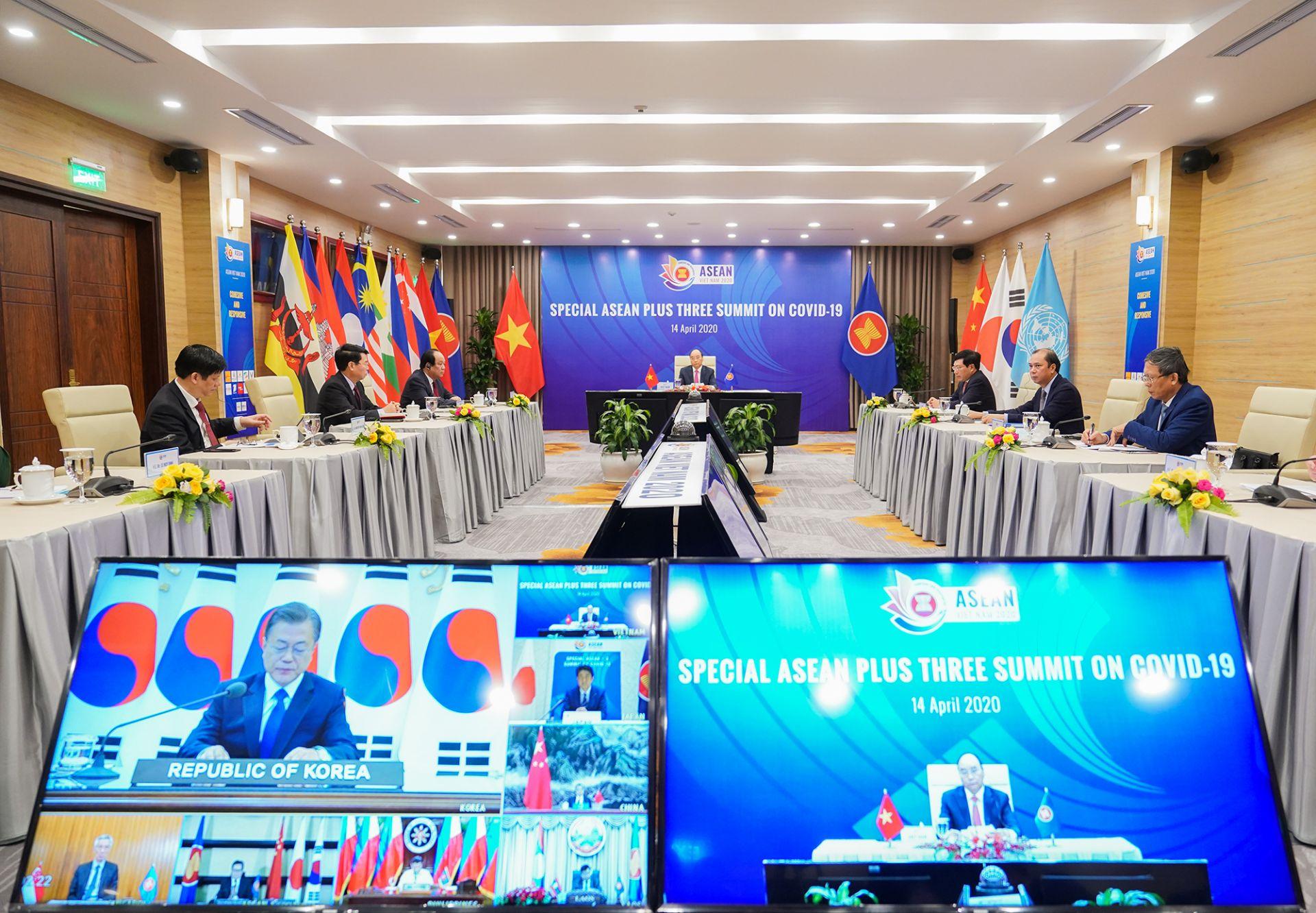 Hội nghị Cấp cao đặc biệt ASEAN+3 ra Tuyên bố chung về ứng phó dịch bệnh COVID-19