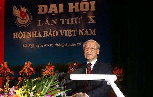 Tổng Bí thư, Chủ tịch nước Nguyễn Phú Trọng gửi Thư chúc mừng 70 năm ngày thành lập Hội Nhà báo Việt Nam