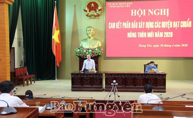 Hưng Yên 6 huyện phấn đấu đạt chuẩn nông thôn mới
