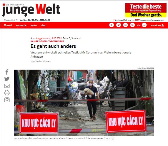 Truyền thông Đức Việt Nam là một trong số ít điểm sáng trong cuộc chiến chống COVID-19