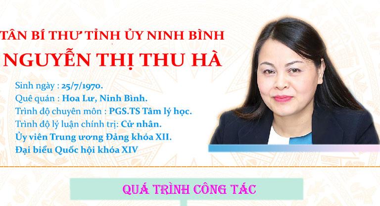 [Infographics] Chân dung tân Bí thư Tỉnh ủy Ninh Bình Nguyễn Thị Thu Hà