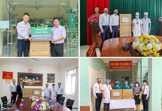 Vietcombank Hưng Yên hỗ trợ 1 000 bộ trang phục phẫu thuật và phòng dịch tại Hà Nội và Hưng Yên
